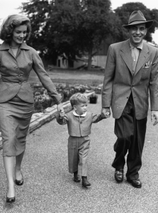 Bacall and Bogie with their son, Stephen.