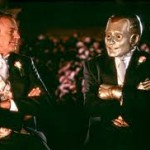 "Robin Williams (right) as Andrew Martin, a robot, in ""Bicentennial Man."""