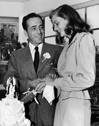 Lauren Bacall marrying the love of her life, Humphrey Bogart.