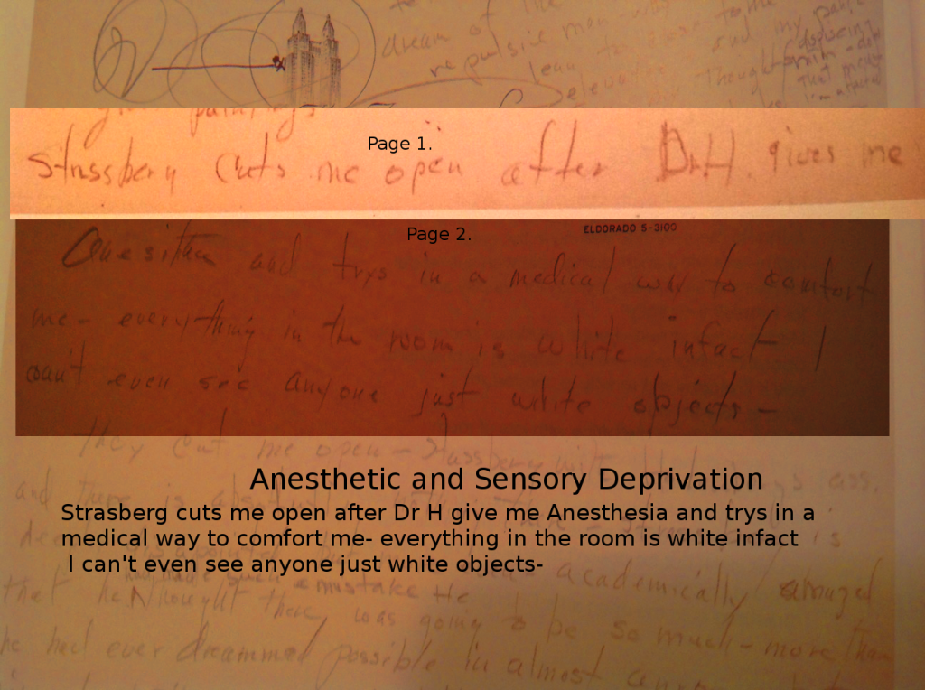 anesthetic and sensory deprivation