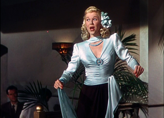 "Doris Day in ""Romance on the High Seas,"" 1948. Public domain image."