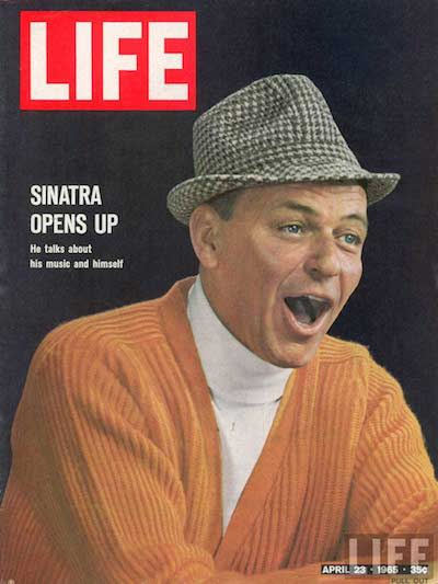 Frank Sinatra pictured in his favorite color. Image courtesy of LIFE.