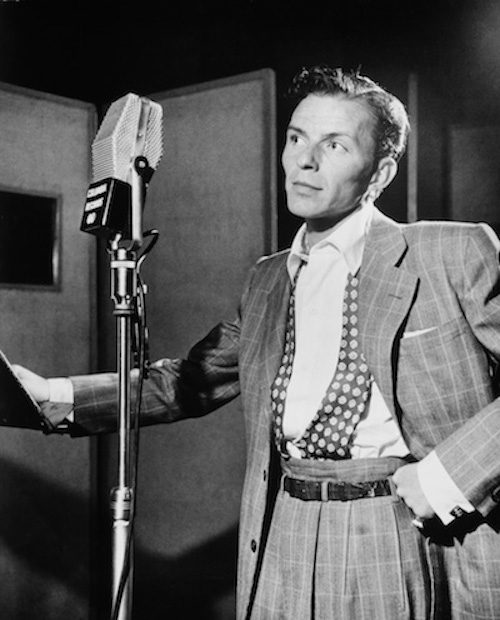 Frank Sinatra in New York, 1947. Public domain image.