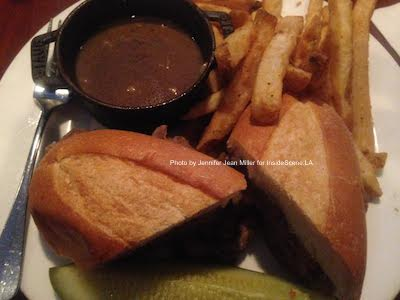 The French Dip the author enjoyed from the HAT Tavern. Photo by Jennifer Jean Miller.